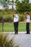 在葬礼的美国退伍军人协会 库存照片