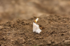 在葬礼的蜡烛 免版税库存图片