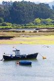 在蒂娜美纳,西班牙的渔船 库存图片