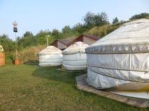 在蒙古样式的娱乐中心 免版税库存图片