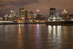 在蒙特利尔的地平线视图 免版税库存图片