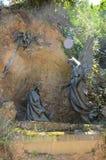 在蒙特塞拉特附近的雕象 免版税库存照片