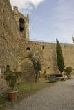 在蒙达奇诺城堡里面 库存照片