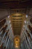 在蒙雷阿莱大教堂里面的基督壁画在巴勒莫附近 库存照片