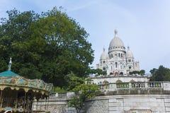 在蒙马特的Sacré-Coeur 免版税库存图片