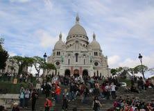 在蒙马特的Sacre-Coeur大教堂, 库存图片