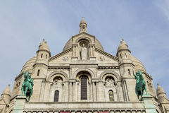 在蒙马特的Sacre Couer大教堂在巴黎 免版税图库摄影