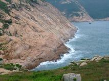 在蒲台群岛的峭壁 免版税库存图片