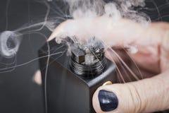 在蒸汽中间的机械蒸发器 库存图片