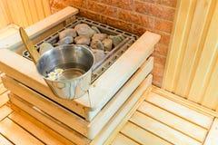 在蒸汽浴里面屋子的元素  库存图片