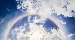 在蓝天的光环 图库摄影