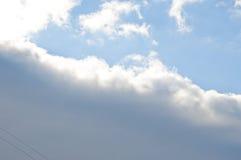 在蓝天的多雨云彩 图库摄影