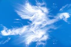 在蓝天的春天云彩 免版税库存图片