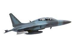在蓝天的标有英里数的空中飞机飞行 免版税库存照片