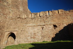 石设防墙壁 免版税库存照片