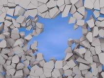 在蓝天的破裂的地球摘要背景 免版税库存照片