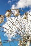 在蓝天背景的弗累斯大转轮  免版税库存照片