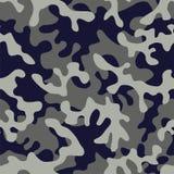 在蓝灰色的卡莫军事上色 库存例证