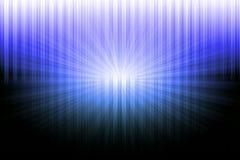 在蓝色和白光的摘要黑色 免版税库存图片