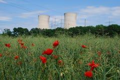 核电站 图库摄影