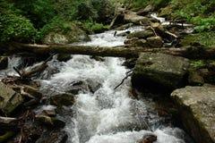 在蓝色山乔治亚的瀑布 库存照片