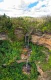 在蓝色山的瀑布在澳大利亚 库存照片