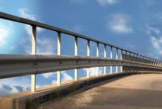 在蓝色明亮的天空的桥梁 库存图片
