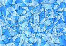 在蓝色梯度的抽象几何样式 免版税库存图片