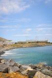 在蓝色海岸的体育场construcation 免版税图库摄影