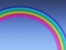 在蓝色清楚的天空的彩虹 库存照片