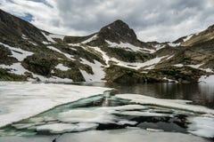 在蓝色湖-科罗拉多的冰 免版税库存图片