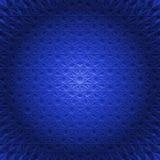 在蓝色球形-方形的背景的抽象圆的坛场 免版税库存图片