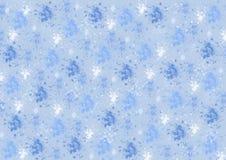 在蓝色的不同的蓝色颜色污点 免版税库存照片