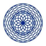在蓝色的圆滤网样式 免版税库存图片