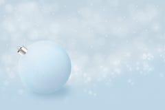 在蓝色的新年度的简单派 免版税库存图片