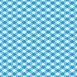 在蓝色的方格花布模式 免版税库存图片