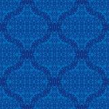 在蓝色的无缝的纹理 设计的要素 图库摄影