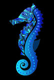 在蓝色的海象 免版税库存照片