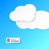 在蓝色的白皮书云彩。 向量例证