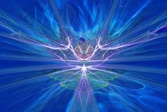 在蓝色的神奇外籍人形式磁场 库存照片