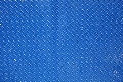 在蓝色的织地不很细金属背景 免版税库存图片