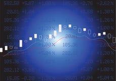 在蓝色的股市 向量例证