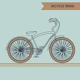 在蓝色的自行车剪影 免版税库存图片