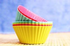 硅蛋糕盘子 库存图片