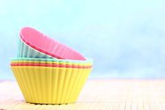 硅蛋糕盘子 免版税图库摄影