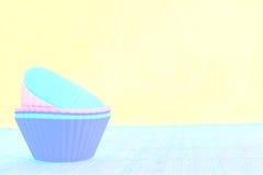 被过滤的硅蛋糕盘子 库存照片