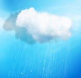 在蓝色的雨 库存照片