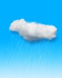 在蓝色的雨 免版税库存照片