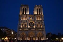 在蓝色的Notre Dame 免版税图库摄影