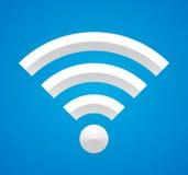 在蓝色的Wi-Fi。 免版税库存图片